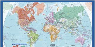 Bilingual World Map