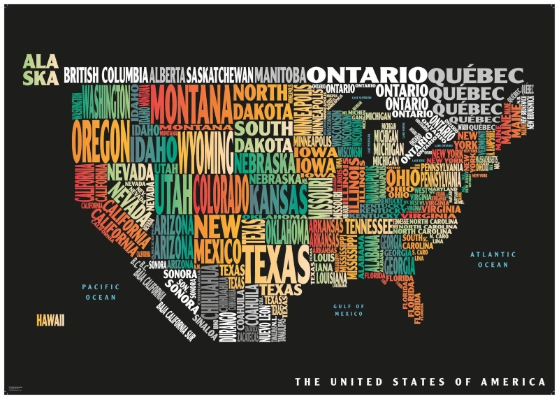 Graphic USA Map