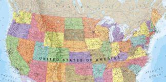 USA decor Map