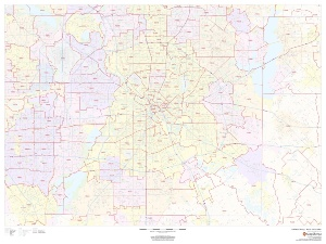 Dallas County Zip Code Map