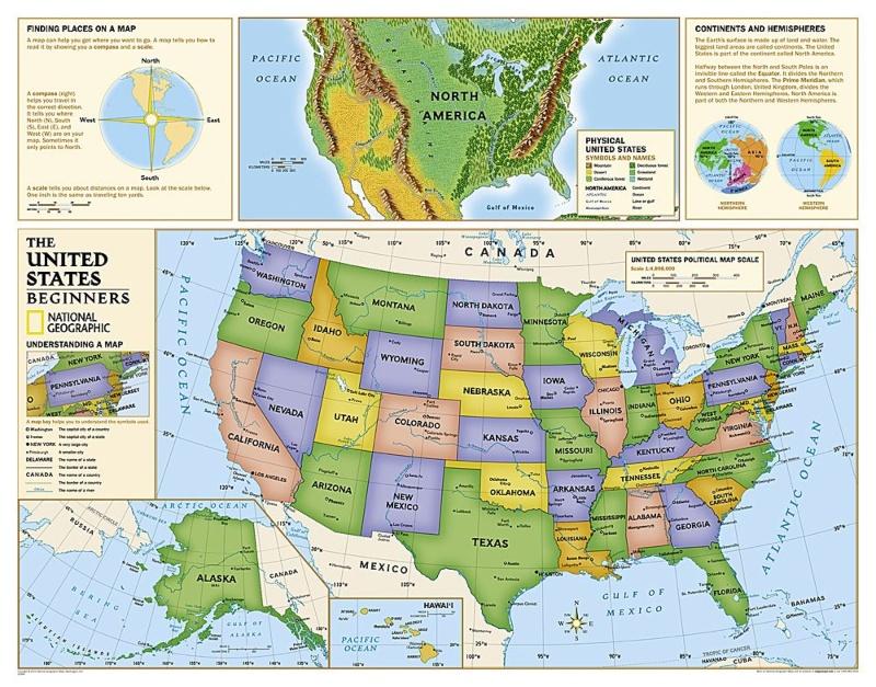 Kids USA map