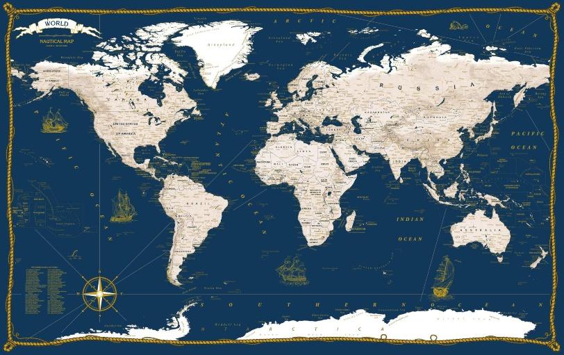 Nautical Style Map