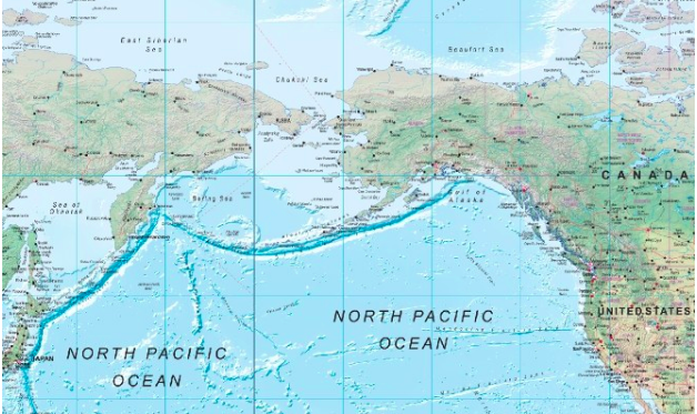 Asia and North America map