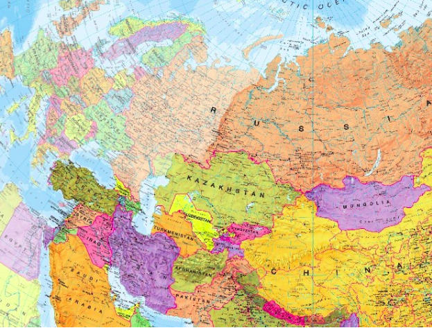 Asia and Europe Map