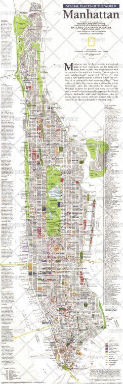 Manhattan Published 1990 Map