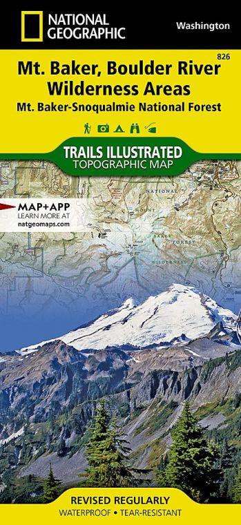 Mount Baker and Boulder River Wilderness Areas Map [Mt. Baker-Snoqualmie National Forest]