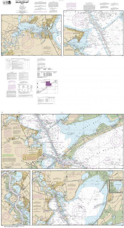 Noaa Chart 11326 Galveston Bay
