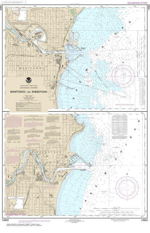 Noaa Chart 14922 Manitowoc And Sheboygan