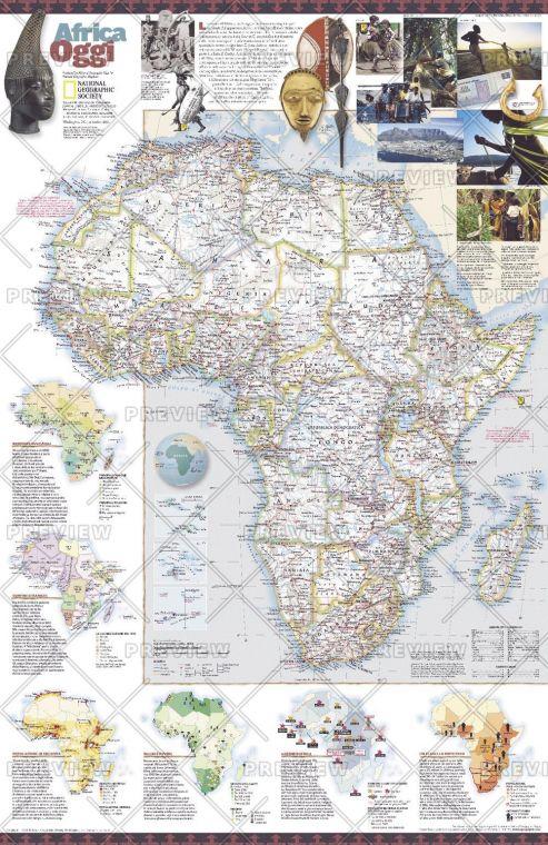 Africa Oggi Published 2001 Map