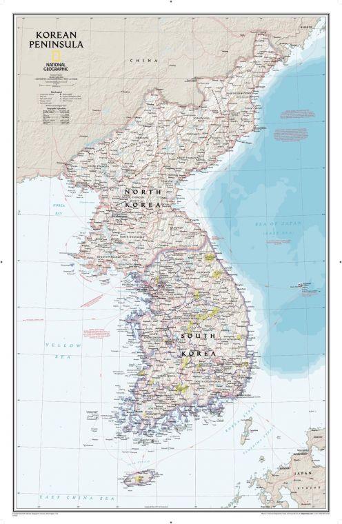 Korean Peninsula Classic Map