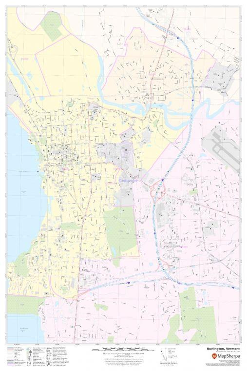 Burlington, VT Map