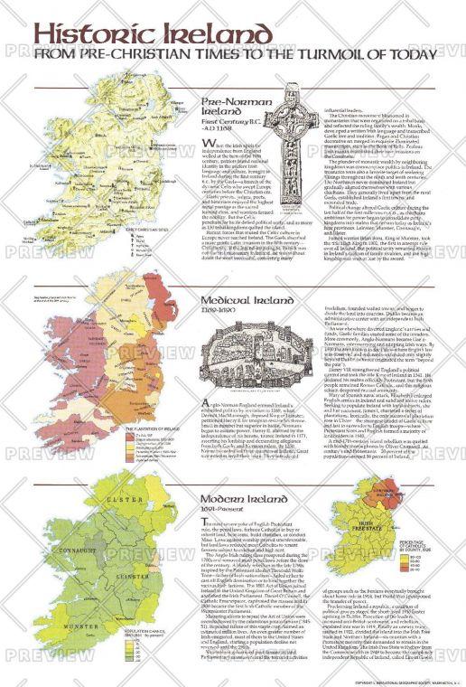 Historic Ireland Theme Published 1981 Map