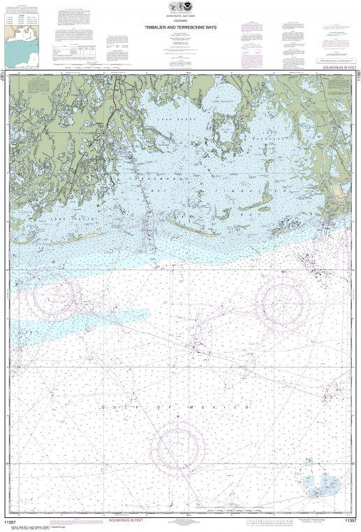 Noaa Chart 11357 Timbalier And Terrebonne Bays