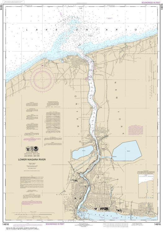 Noaa Chart 14816 Lower Niagara River