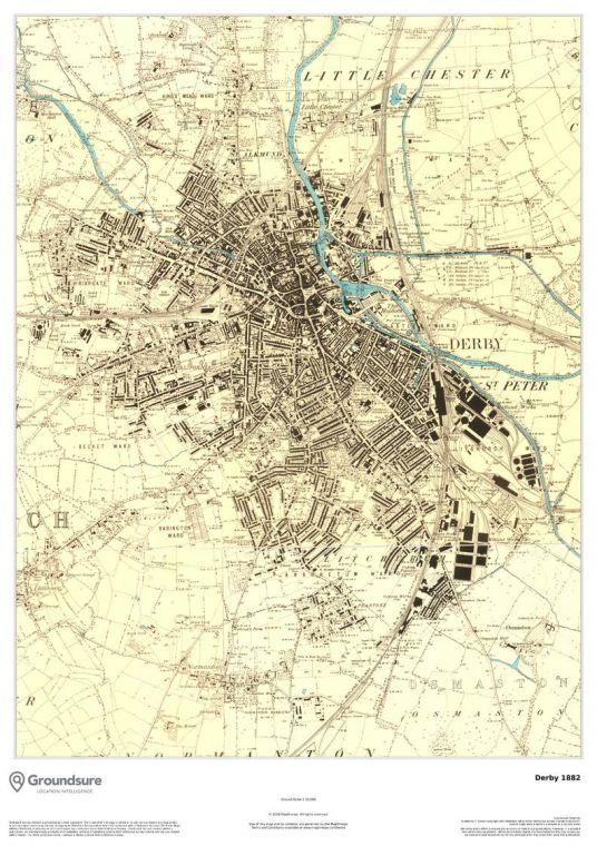 Derby Map 1882