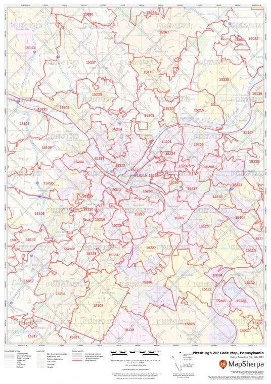 Pittsburgh ZIP Code Map
