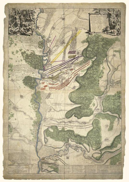 Blenheim Battle Map 1704