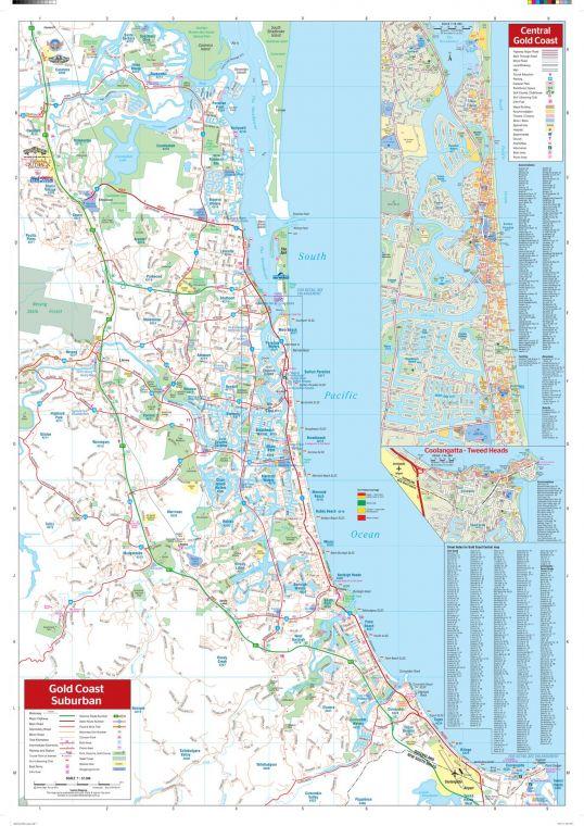 Gold Coast Wall Map