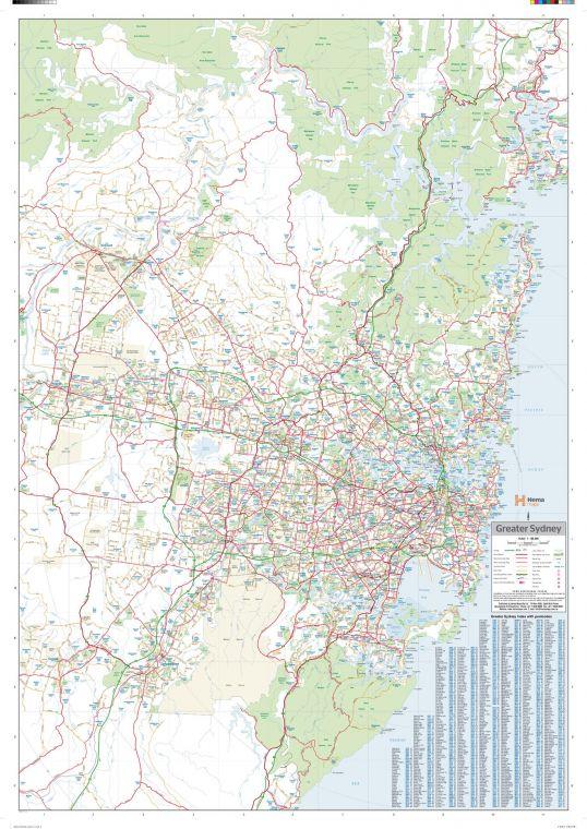Sydney Region Wall Map