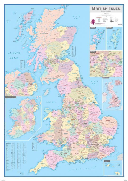 British Isles Administrative Map