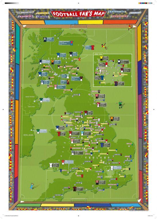 Football Fan S Stadium Map