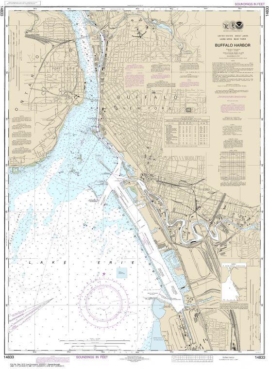 Noaa Chart 14833 Buffalo Harbor