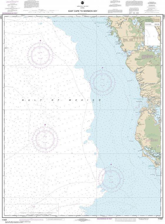 Noaa Chart 11431 East Cape To Mormon Key