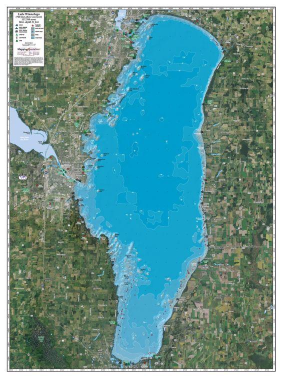 Lake Winnebago Map