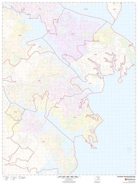 Annapolis ZIP Code Map
