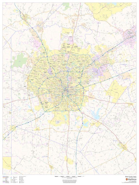 Bexar County Texas Map