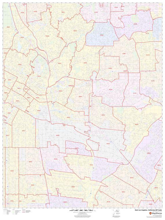 East Los Angeles ZIP Code Map