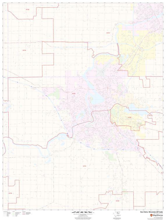 Eau Claire ZIP Code Map