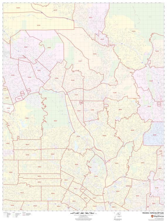 Glendale ZIP Code Map