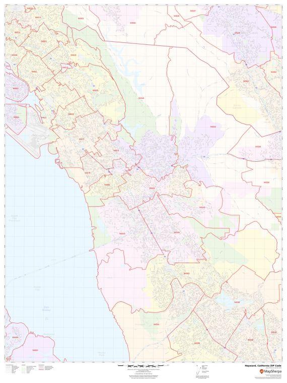 Hayward ZIP Code Map