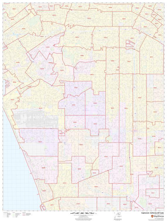 Inglewood ZIP Code Map