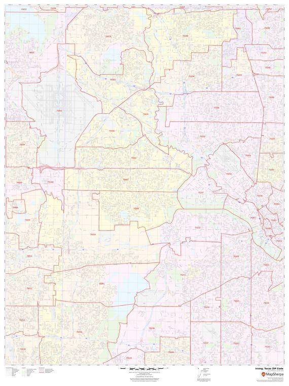 Irving Zip Code Map