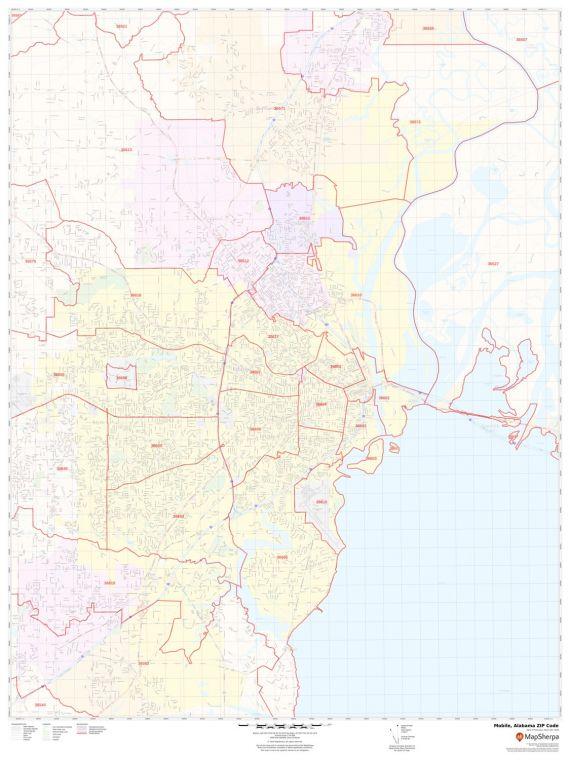 Mobile ZIP Code Map