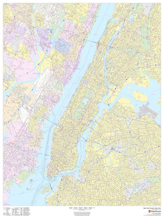 New York County New York Map