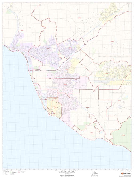 Oxnard ZIP Code Map