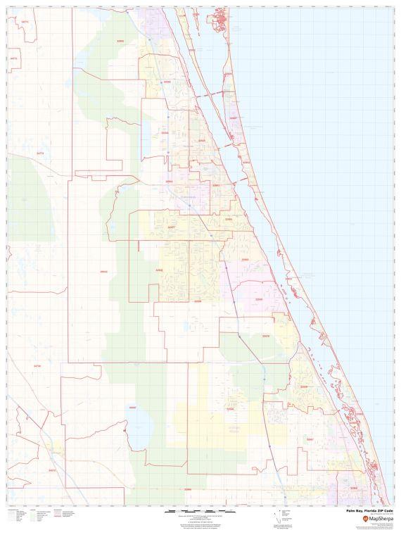 Palm Bay ZIP Code Map
