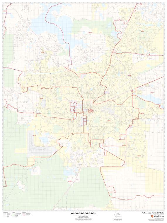 Tallahassee ZIP Code Map