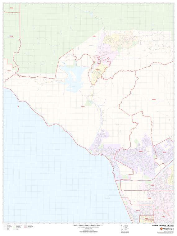 Ventura CA ZIP Code Map