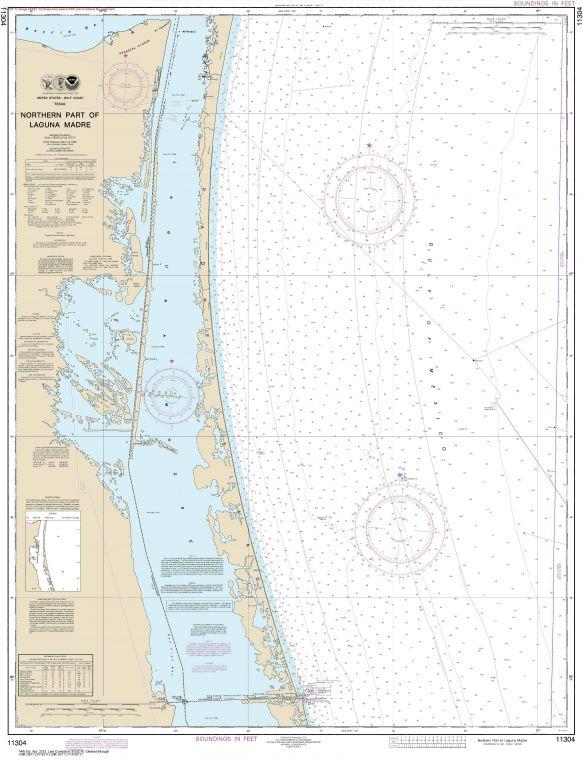 Noaa Chart 11304 Northern Part Of Laguna Madre