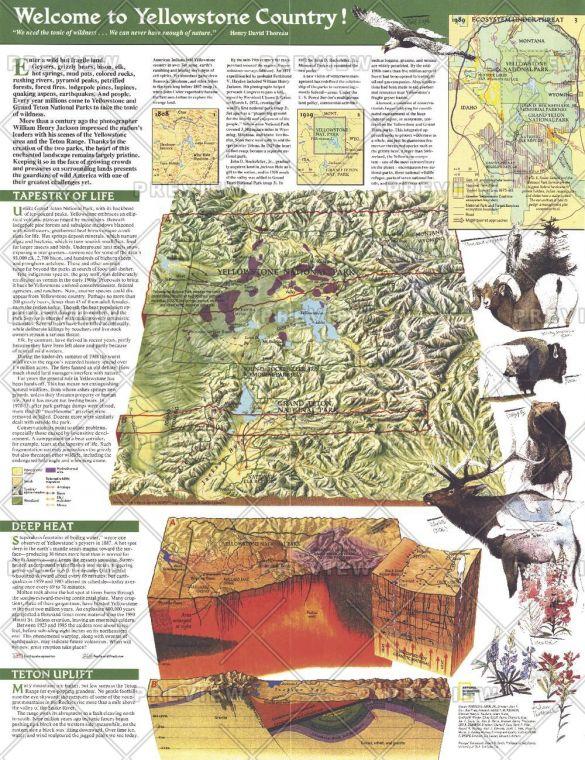 Yellowstone And Grand Teton Side 2 Published 1989 Map