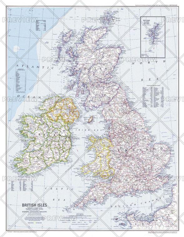 British Isles Published 1979 Map