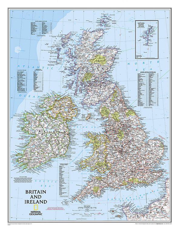 Britain And Ireland Classic Map