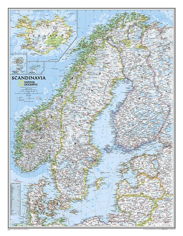 Scandinavia Classic Map