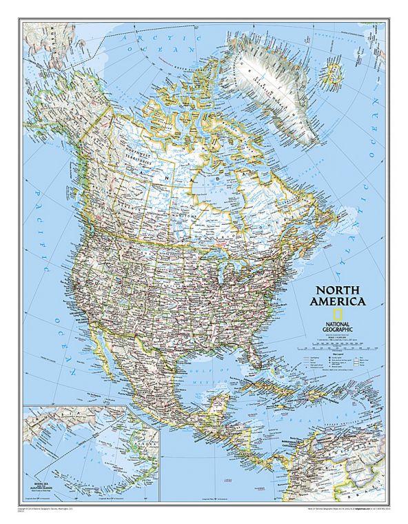 North America Classic Map