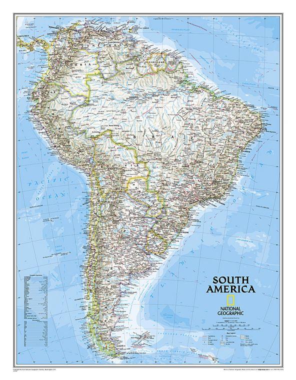 South America Classic Map