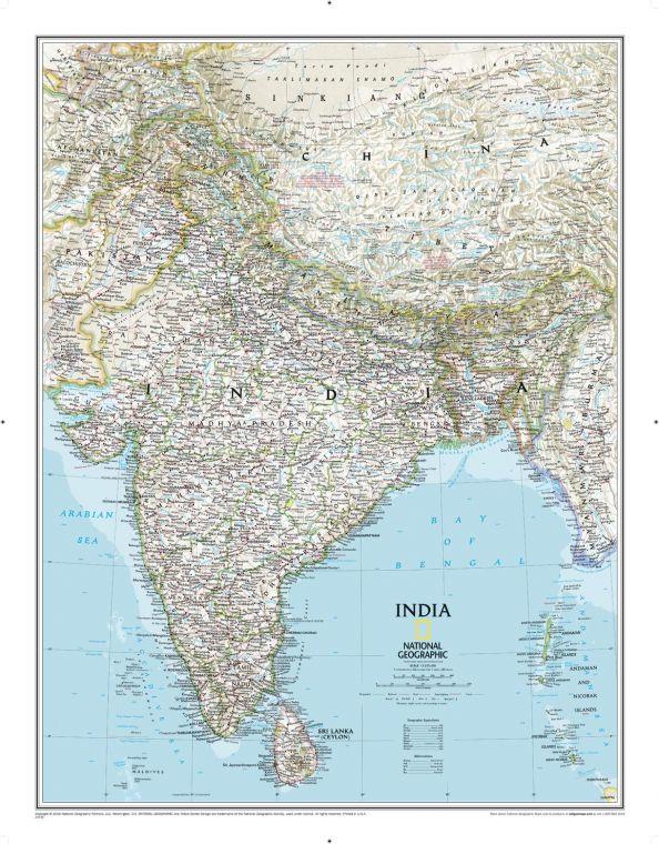 India Classic Map